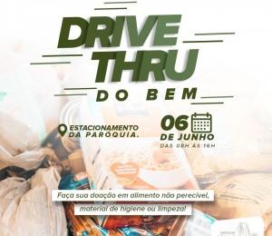 """Paróquia realiza """"Drive thru do bem"""""""