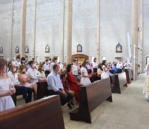 Paróquia São Luís Gonzaga dá início às celebrações de Primeira Comunhão